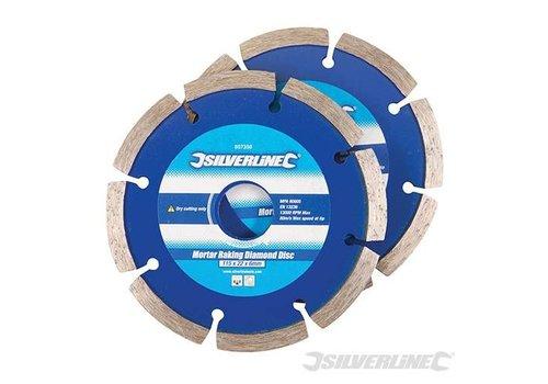 Silverline Diamant voegenschijf, 2 pk. 115 x 22,2 mm