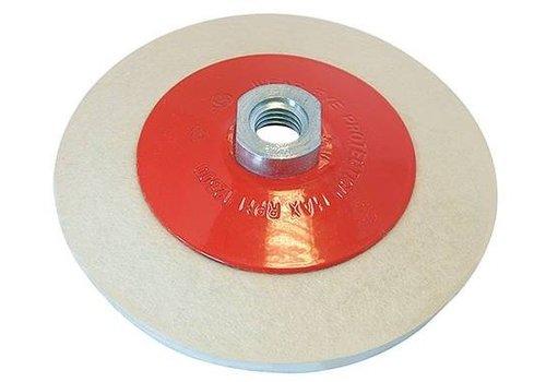 Silverline Afgeschuind vilt polijstwiel 115mm