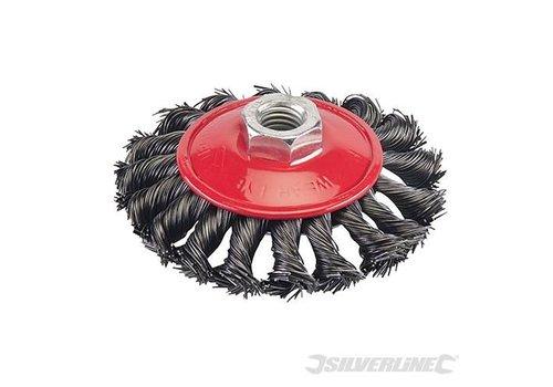 Silverline Borstelwiel met gedraaide draad 100mm