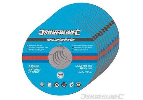 Silverline Platte metaal snijschijven, 5 pk.