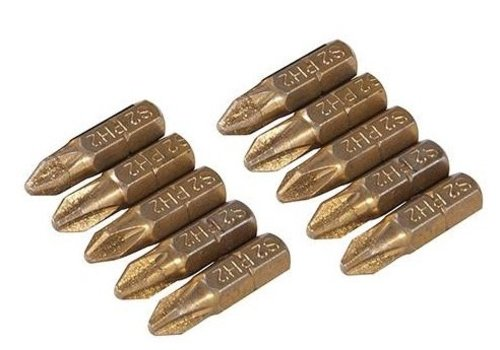 Silverline Diamant schroevendraaier bits, 10 pk. PH2
