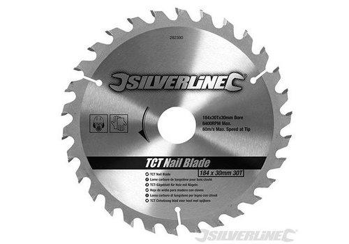 Silverline TCT spijker cirkelzaagblad, 30 tanden