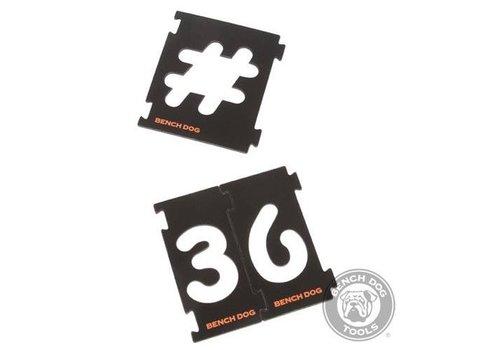 BENCHDOG 31-delige nummer freessjablonen set