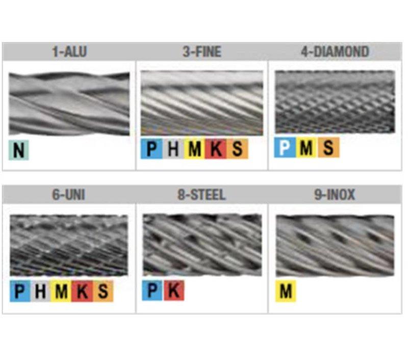 HM Stiftfrees model A, cilindrisch, schacht 3 mm Artikelgroep 41.513