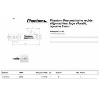 Pneumatische rechte slijpmachine, lage vibratie, opname 6 mm Artikelgroep 41.865