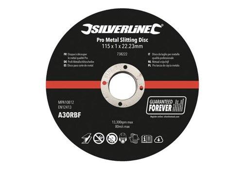 Silverline Metaal snijschijven 10 pk. 115 x 1 x 22,23 mm