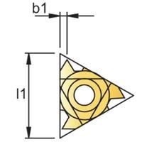 Draadsnijwisselplaat UN, 60°, volprofiel, uitwendig Artikelgroep 74.180