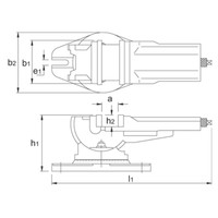 Draai- en Zwenkbare Machineklem, type 6530  Artikelgroep 88.260