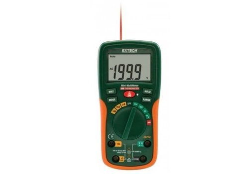 Extech EX210 Pocket Digitale Multimeter + IR thermometer