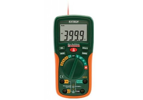 Extech EX230 Pocket Digitale Multimeter + IR thermometer