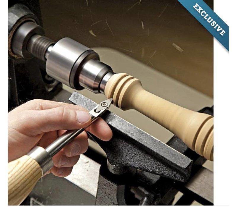 """13-1/2"""" ergonomische mini-draaigereedschapset met carbide punt"""