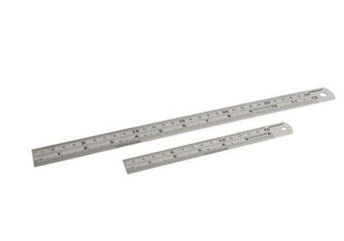 Silverline Roestvrijstalen lineaal, 2-delig 150 en 300 mm