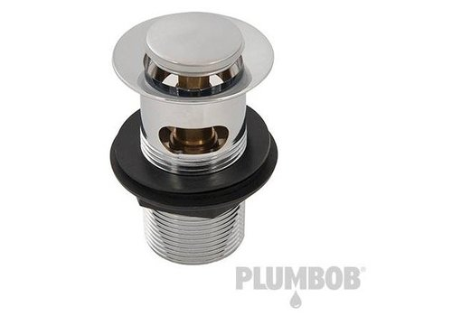 "Plumbob Wastafelafvoerplug klikwaste, gesleufd 1 1/4"" (32 mm)"