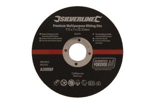 Silverline Universele snijschijven 10 pk. 115 x 1 x 22,23 mm