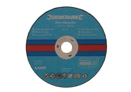 Silverline Metaalsnijschijven 10 pk 75 x 1 x 10 mm