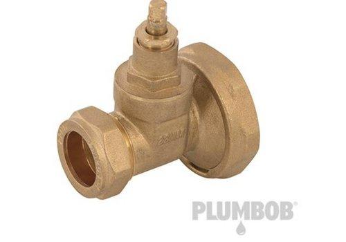 "Plumbob Messing sanitair afsluitventiel 1 - 1/2"""