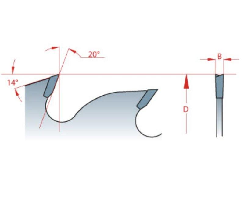 ZAAGBLAD MET MEERDERE SCHUIFZAGEN MET KOELSLEUVEN 250x3,2/2,2x30xZ=20+4