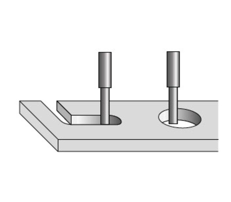 boren en rouwende router bit mit ringen Art. D255