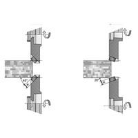 hellende kantenaanpassing messen 20 ° - 45 ° met HSK25R en HSK32R  Art. D330