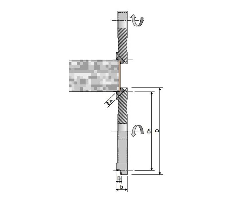 straal radius  edgebanding cutters Art. D340
