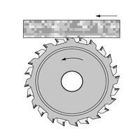 Vertelbare diamant voorritszaag voor de formaatzaag Art. D480