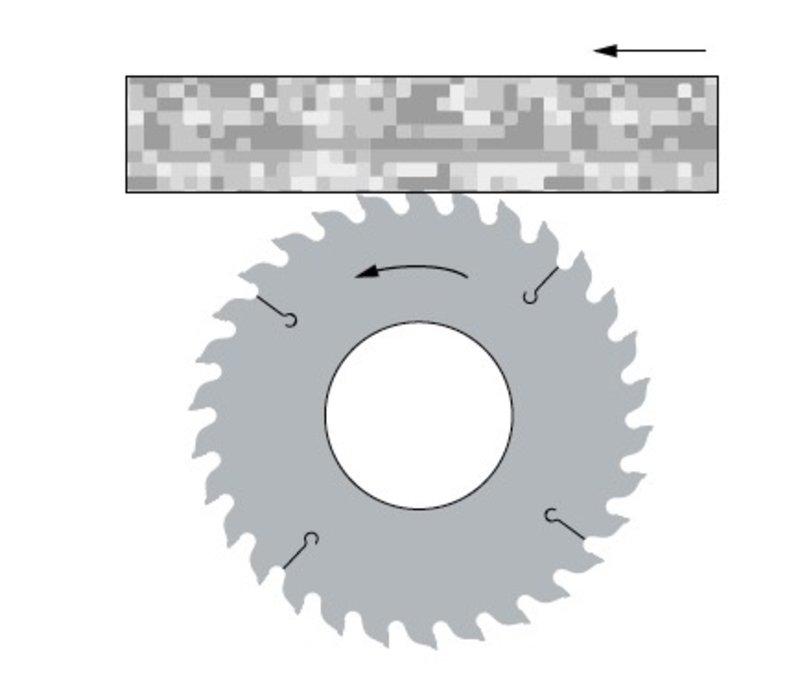 conische diamant cirkelzaagblad voor universele machines  Art. D475