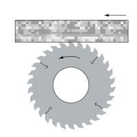 conische diamant cirkelzaagblad voor universele machines Art. D470