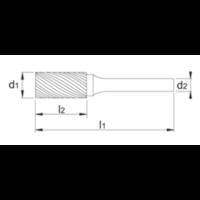 HM Stiftfrees model A, cilindrisch, TiAlN Artikelgroep 41.511