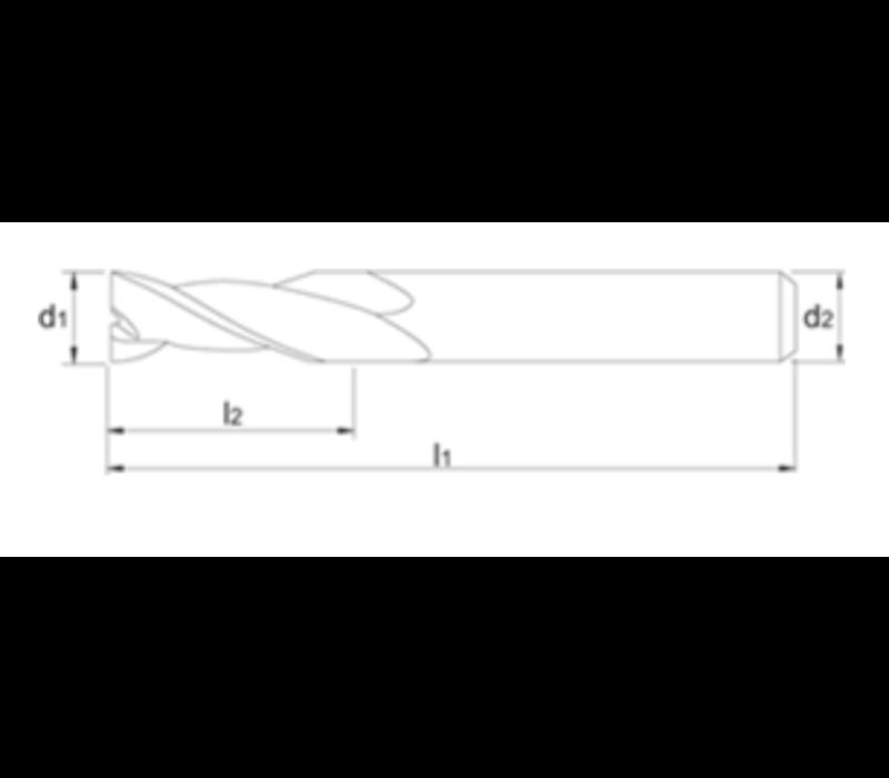 VHM-MG Precisie Schachtfrees, 2-snijder Artikelgroep 32.270