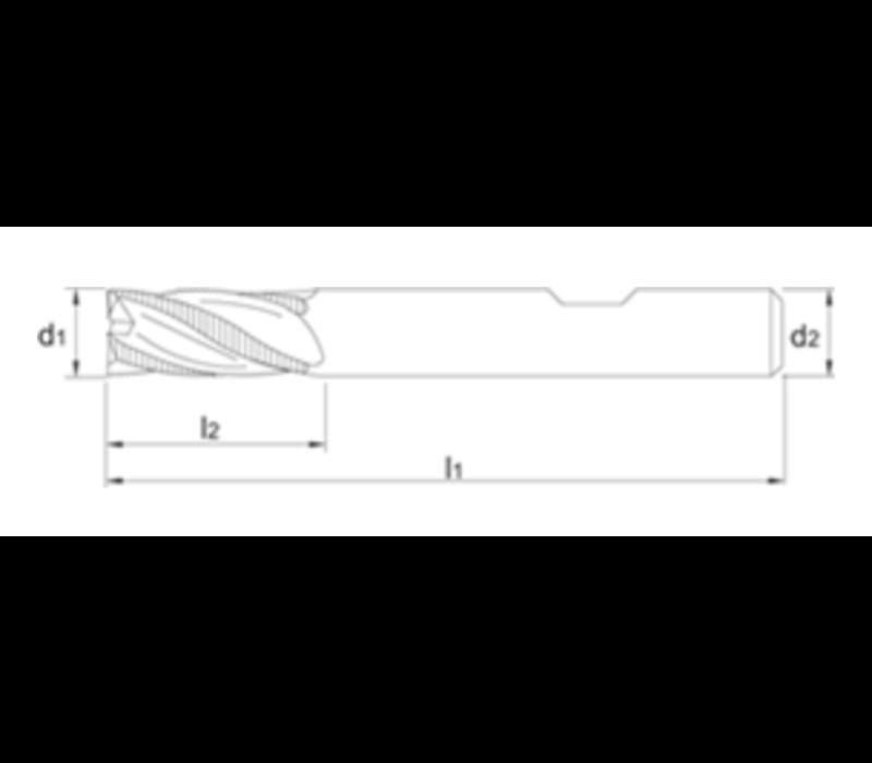 VHM Ruwfrees TiAlN, fijn, staal Artikelgroep 35.244