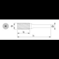 HM Stiftfrees model B, cilindrisch met kopvertanding, TiAlN Artikelgroep 41.521