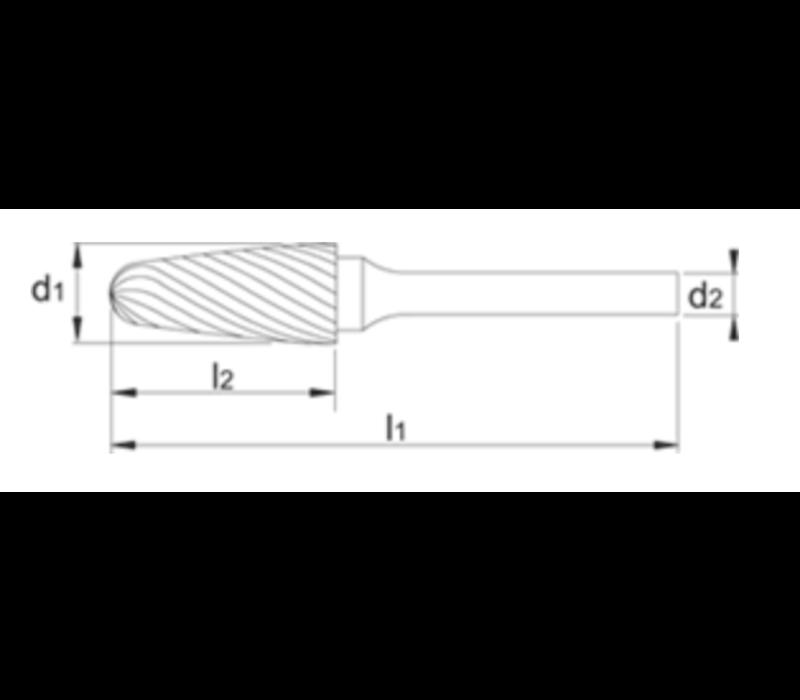 HM Stiftfrees model F, boomvorm met ronde kop, TiAlN Artikelgroep 41.561