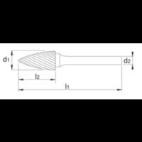 HM Stiftfrees model G, boomvorm spits, schacht 3 mm Artikelgroep 41.573