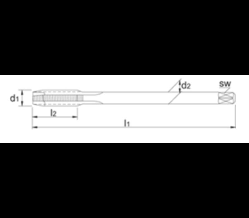 Tools HSS-E Machinetap Metrisch, stoomontlaten, roestvaststaal Artikelgroep 22.596