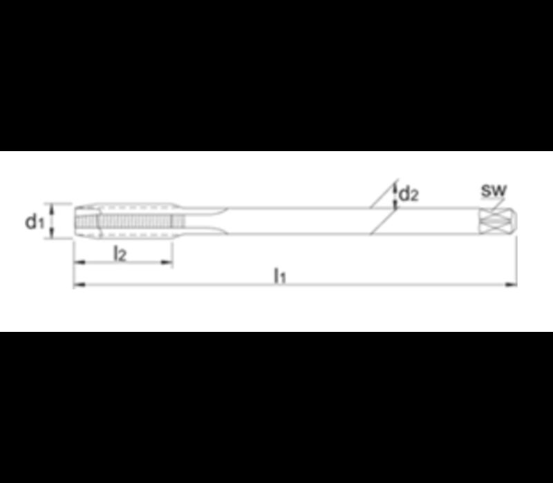 HSS-E PM Machinetap Metrisch, stoomontlaten, roestvaststaal Artikelgroep 22.601