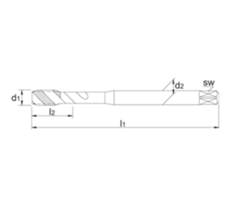 ECO PRO HSS-E Machinetap Metrisch, TiN Artikelgroep 23.297
