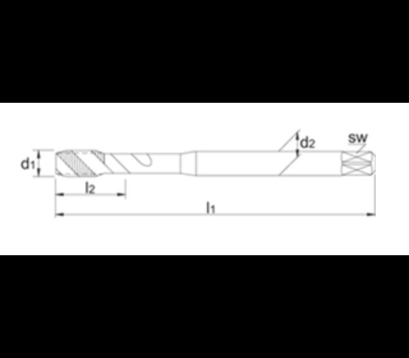 UNI HSS-E Machinetap Metrisch, TiCN Artikelgroep 23.324