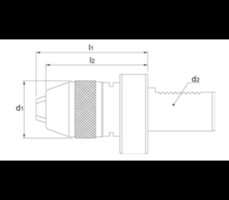 Zelfspannende Precisieboorhouder, type XP, VDI volgens DIN 69880 Artikelgroep 81.308