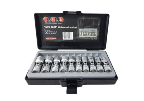 "Force 10pc 3/8"" Uni. socket set"