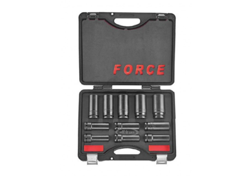 "Force 11pc 3/4""DR. 6pt. Flank deep impact socket set"