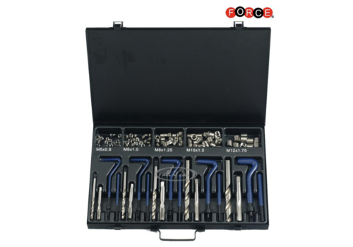 Force 130pc Threaded coil-inset repair kit