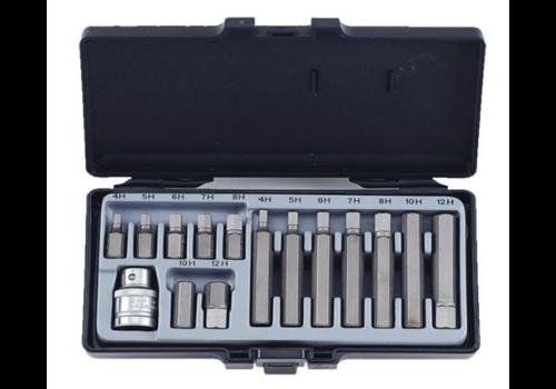 Force 15pc 10mm Hex bit set