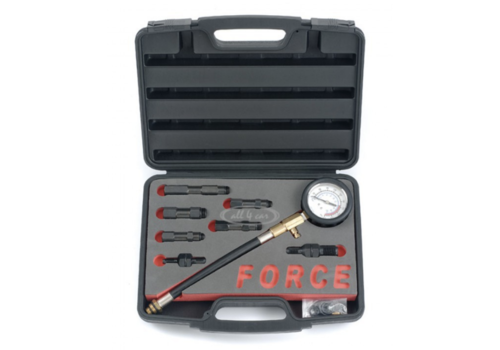 Force 9pc Petrol engine compression tester set