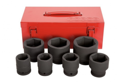 "Force 7pc 3/4"" 6pt. Impact socket"