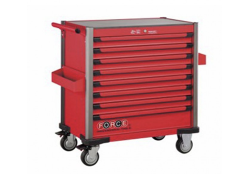 Force Red 8-drawer jumbo trolley with 437pcs tools