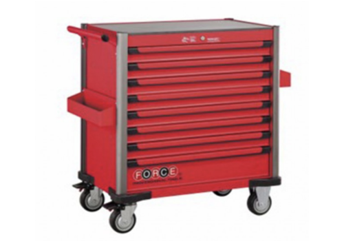 Force Red 8-drawer jumbo trolley with 531pcs tools (EVA)
