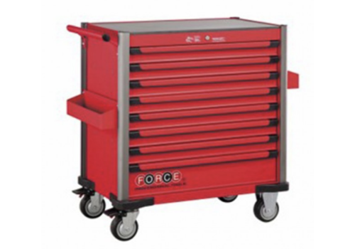 Force Red 8-drawer jumbo trolley with 607pcs tools (EVA)