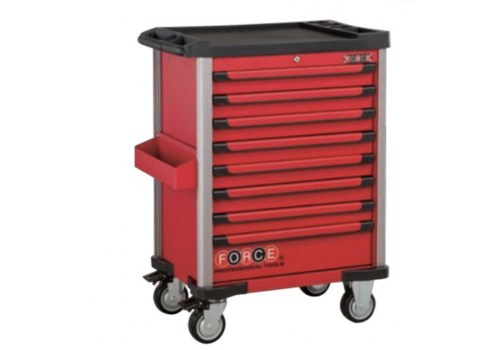 Force Red 8-drawer trolley with 193pc tools (EVA)