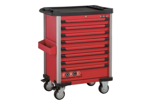 Force Red 8-drawer trolley with 219pc tools