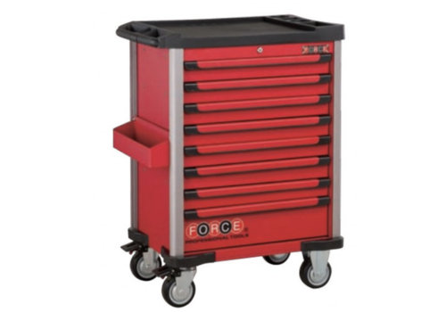 Force Red 8-drawer trolley with 245pc tools